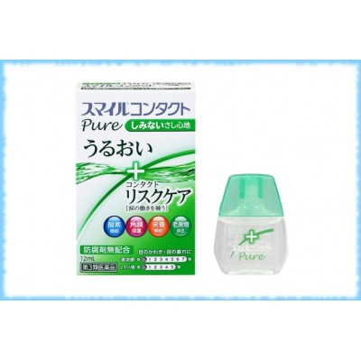 Глазные капли для всех видов контактных линз Lion Smile Contact Pure, Lion, 12 мл.