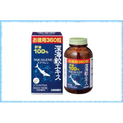 Масло печени акулы Squalene, Orihiro, на 60 дней