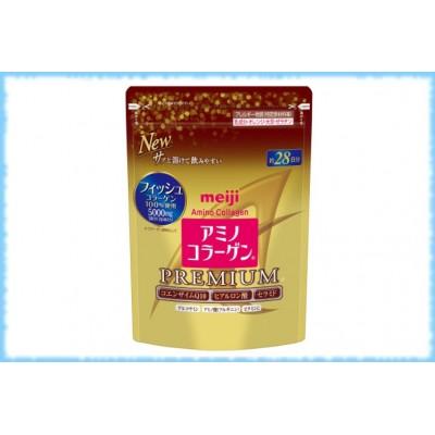 Обновленный аминоколлаген Premium, Meiji, пакет-рефил, курс - 28 дней, 196 гр.