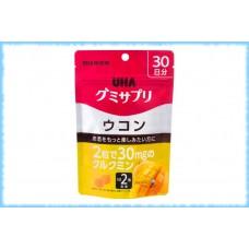 Жевательные мармеладки с уконом, Gummy Supple Hyaluronic Ukon, UHA, на 20 дней