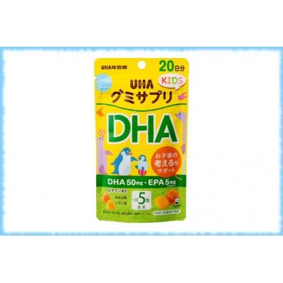 Детские жевательные конфеты с омега-3 кислотами Gummy Supple Kids DHA, UHA, на 20 дней.