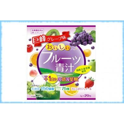 Аодзиру с железом+фолиевой кислотой, Yuwa, 20 пакетиков * 3 гр.