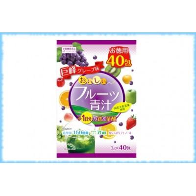 Аодзиру с железом+фолиевой кислотой, Yuwa, 40 пакетиков * 3 гр.