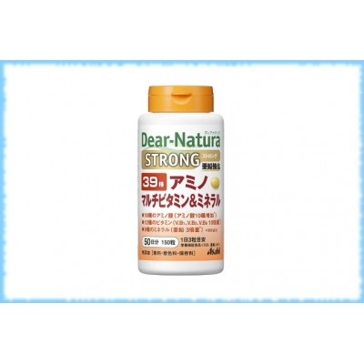 Комплекс аминокислот, витаминов и минералов Dear-Natura-39 Strong, Asahi, на 50 дней