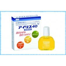 Глазные капли увлажняющие и против покраснения Iris 40, Taisho Pharmaceutical, 14 мл.