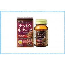 Наттокиназа Natto Kinase Capsule, Orihiro, на 20 дней