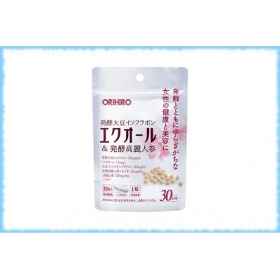 Экуол и зерно женьшеня, Orihiro, на 30 дней