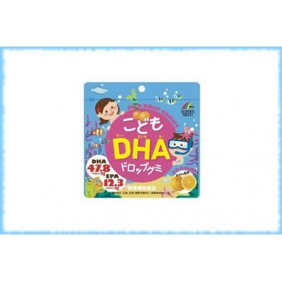 Детский мармелад с омега-кислотами DHA Drop Gummy, Unimat Riken, на 30 дней