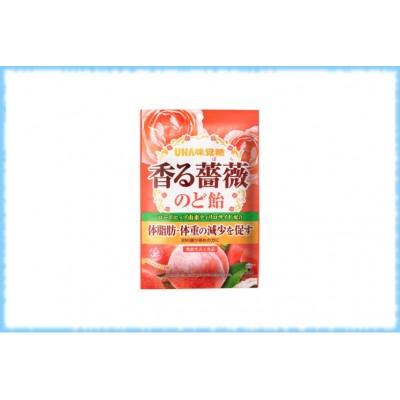 Леденцы с розой для диеты TOKUNO Kaoru Bara, UHA, 60 гр.