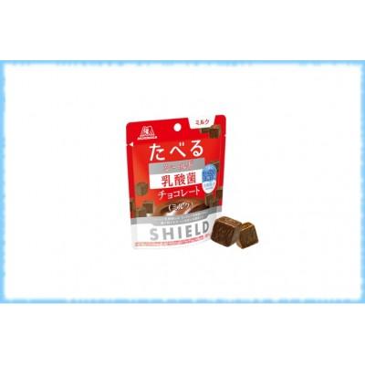 Шоколад с лактобактериями для иммунитета Съедобный щит Shield, MORINAGA, 50 гр.