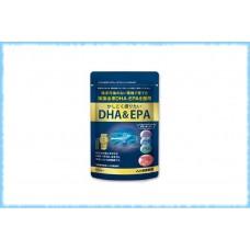 Омега-3 из морских водорослей Healthy Family DHA&EPA, Kenko Kazoku, на 30 дней
