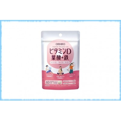 Витаминный комплекс для женщин Vitamin D + Folic Acid + Iron, Orihiro, на 60 дней
