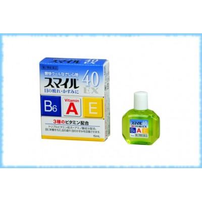 Глазные капли Lion Smile EX 40, Lion, 15 мл.